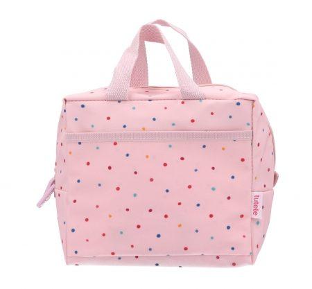 Bolsa Merienda Térmica Dots Pink Personalizable JanaBanana