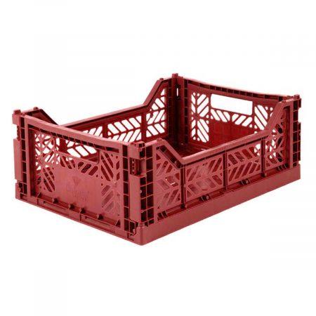 Caja Plegable Lillemor Mediana Rojo Tilo JanaBanana