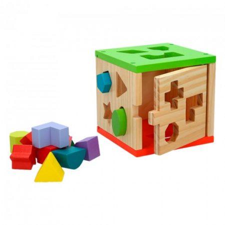 Cubo Actividades Encajables 14 piezas colores